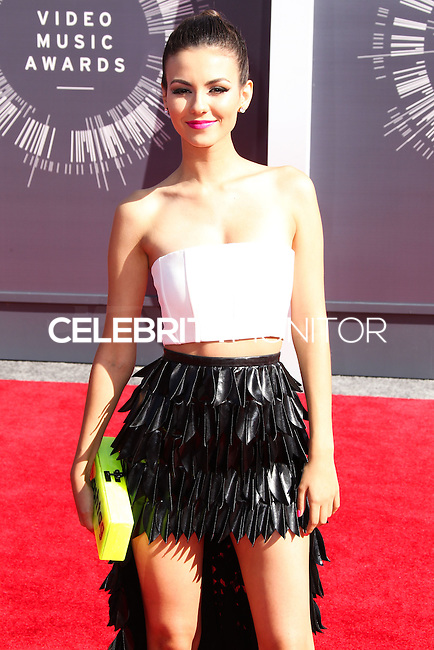 LOS ANGELES, CA, USA - AUGUST 24: Victoria Justice at the 2014 MTV Video Music Awards held at The Forum on August 24, 2014 in the Los Angeles, California, United States. (Photo by Xavier Collin/Celebrity Monitor)