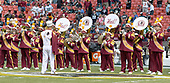 The Washington Redskins Marching Band performs on the field prior to the Philadelphia Eagles against the Washington Redskins game at FedEx Field in Landover, Maryland on Sunday, September 10, 2017.  The Eagles won the game 30 - 17.<br /> Credit: Ron Sachs / CNP