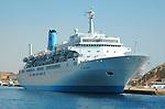 Cruise liner in Red Sea near Sharm El Sheikh, Egypt