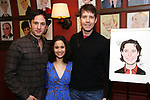 Kyle Barisich, Ali Ewoldt and James Barbour attends James Barbour's Top Secret portrait unveiling at Sardi's on March 10, 2017 in New York City.