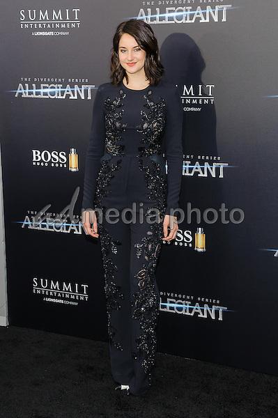 "14 March 2016 - New York, New York- Shailene Woodley. ""The Divergent: Allegiant"" New York Premiere. Photo Credit: Mario Santoro/AdMedia"