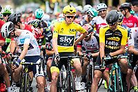 Picture by Alex Whitehead/SWpix.com - 11/07/2017 - Cycling - Le Tour de France - Stage 11, Eymet to Pau - Chris Froome of Team Sky on the start line.