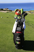 Paul Dunne (IRL) bag on the 3rd tee at Spyglass Hill during Thursday's Round 1 of the 2018 AT&amp;T Pebble Beach Pro-Am, held over 3 courses Pebble Beach, Spyglass Hill and Monterey, California, USA. 8th February 2018.<br /> Picture: Eoin Clarke | Golffile<br /> <br /> <br /> All photos usage must carry mandatory copyright credit (&copy; Golffile | Eoin Clarke)