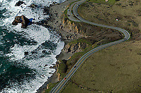 aerial photograph Highway One coastal Sonoma County, California