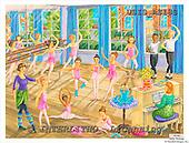 Ingrid, CHILDREN, KINDER, NIÑOS, paintings+++++,USISAS18S,#K#,ballet ,vintage