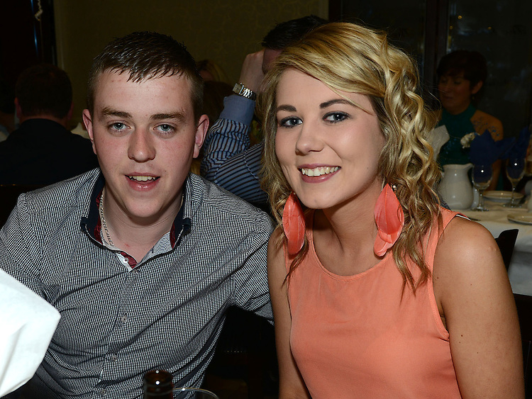 Conor Bolger and Ciara Broughton pictured at the Lannleire GFC awards dinner in the Grove hotel. Photo:Colin Bell/pressphotos.ie