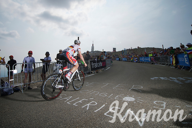André Greipel (DEU) is the first of the big sprinters up Ventoux<br /> <br /> Tour de France 2013<br /> stage 15: Givors to Mont Ventoux, 242,5km
