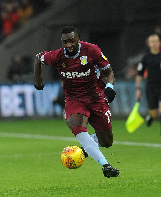 Aston Villa's Yannick Bolasie breaks down the wing <br /> <br /> Photographer Ian Cook/CameraSport<br /> <br /> The EFL Sky Bet Championship - Swansea City v Aston Villa - Wednesday 26th December 2018 - Liberty Stadium - Swansea<br /> <br /> World Copyright © 2018 CameraSport. All rights reserved. 43 Linden Ave. Countesthorpe. Leicester. England. LE8 5PG - Tel: +44 (0) 116 277 4147 - admin@camerasport.com - www.camerasport.com