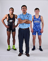 Northwest Arkansas Democrat Gazette/SPENCER TIREY <br />  Shae Chafin (from left) of Rogers Heritage is the Wrestler of the Year,  Springdale Har-Ber's coach Nika West is the Coach of the Year and Jake Turner of Rogers High has been selected as our All-NWA Democrat Gazette Wrestling Newcomer of the Year.