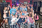 Kieran O'Mahony, Mounthawk, Tralee (seated centre) had a cracking time celebrating his 21st birthday last Saturday night in the Slievemish bar, Tralee along with many friends and family.