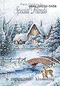John, CHRISTMAS LANDSCAPE, paintings+++++,GBHSSXC50-545B,#xl# Landschaften, Weihnachten, paisajes, Navidad, illustrations, pinturas