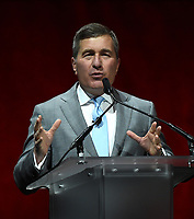 LAS VEGAS, NV - APRIL 24: Chairman and CEO of the Motion Picture Association of America Charles Rivkin speaks onstage during the CinemaCon 2018 The State of the Industry and Walt Disney Studios Presentation presentation at CinemaCon 2018 at The Colosseum at Caesars Palace on April 24, 2018 in Las Vegas, Nevada. (Photo by Frank Micelotta/PictureGroup)