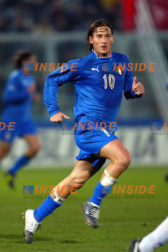 Palermo 18/2/2004 Amichevole - Friendly Match <br /> Italy Czech Republic - Italia Repubblica Ceca 2-2 <br /> Francesco Totti (Italy)<br /> Photo Andrea Staccioli Insidefoto