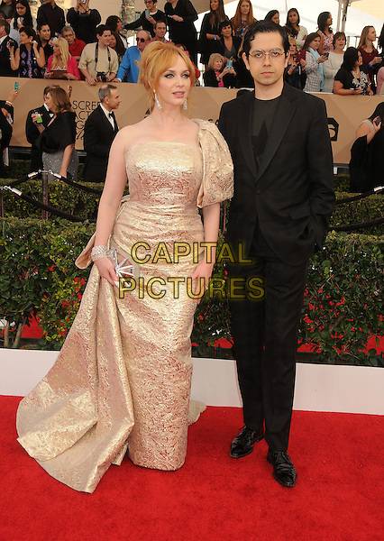 30 January 2016 - Los Angeles, California - Christina Hendricks, Geoffrey Arend. 22nd Annual Screen Actors Guild Awards held at The Shrine Auditorium.      <br /> CAP/ADM/BP<br /> &copy;BP/ADM/Capital Pictures