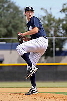 September 09, 2009:  Brett Gerritse of the New York Yankees system delivers a pitch during an instructional league game at the Yankees Training Complex in Tampa, FL; Gerritse was Drafted by the New York Yankees in the 12th round of the 2009 June Draft.  Photo By Mark LoMoglio/Four Seam Images