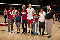 Stanford, CA - April 1, 2017: Stanford beats UC San Diego 3-2 in men's volleyball at Maples Pavilion.