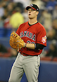 March 7, 2009:  First baseman Justin Morneau (33) of Canada during the first round of the World Baseball Classic at the Rogers Centre in Toronto, Ontario, Canada.  Team USA defeated Canada 6-5 in both teams opening game of the tournament.  Photo by:  Mike Janes/Four Seam Images