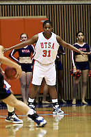 SAN ANTONIO, TX - JANUARY 24, 2008: The University of Texas at Arlington Mavericks vs. The University of Texas at San Antonio Roadrunners Women's Basketball at the UTSA Convocation Center. (Photo by Jeff Huehn)
