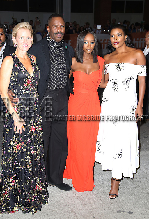 Penelope Ann Miller, Colman Domingo, Aja Naomi King and Gabrielle Union attends the 'The Birth of a Nation' Red Carpet Premiere during the 2016 Toronto International Film Festival premiere at Princess of Wales Theatre on September 9, 2016 in Toronto, Canada.
