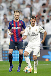 Real Madrid CF's Lucas Vazquez and FC Barcelona's Ivan Rakitic during the King's Cup semifinals match. February 27,2019. (ALTERPHOTOS/Alconada)