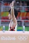 Ryohei Kato (JPN), <br /> AUGUST 6, 2016 - Artistic Gymnastics : <br /> Men's Qualification <br /> Pommel Horse <br /> at Rio Olympic Arena <br /> during the Rio 2016 Olympic Games in Rio de Janeiro, Brazil. <br /> (Photo by Sho Tamura/AFLO SPORT)