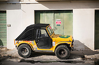 Malta, 28 December 2014<br /> <br /> The harbourfront of the Ta Xbiex and Gzira neighbourhoods opposite the old capital of Valetta.<br /> Yellow jeep parked on No Parking spot.<br /> <br /> Photo Kees Metselaar