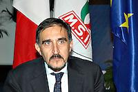 """Roma 09/12/04 Manifestazione di Alleanza Nazionale """"Giù le tasse"""". Nella foto Ignazio La Russa, Alleanza Nazionale.<br /> Photo Samantha Zucchi Insidefoto"""