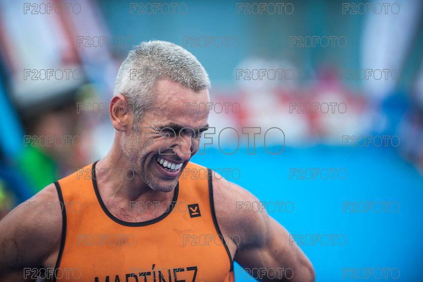 VALENCIA, SPAIN - SEPTEMBER 6: Fernando Martinez during Valencia Triathlon 2015 at port of Valencia on September 6, 2015 in Valencia, Spain