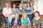 HAPPY BIRTHDAY: Pauline Costelloe, Castlemaine (seated centre) celebrating her birthday in Bella Bia restaurant, Tralee, last Friday night with Mary Costelloe (seated left) and Siobhan Lynch (right). Standing l-r: Mag Costelloe, Mairead Keane, Bridget O'Riordan and Assumpta Nolan.