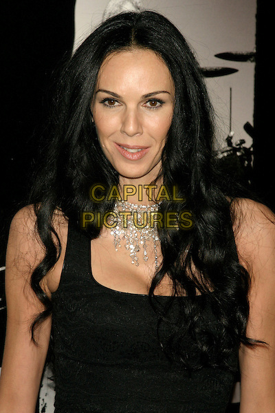 L'Wren Scott, partner of Mick Jagger &amp; former model, is found dead in her New York home on in an apparent suicide on March 17th, 2014.<br /> L'WREN SCOTT<br /> New York Premiere of &quot;Shine A Light&quot; at the Ziegfeld Theater, New York, NY, USA.<br /> March 30th, 2008<br /> headshot portrait black diamond necklace <br /> CAP/LNC/TOM<br /> &copy;TOM/LNC/Capital Pictures