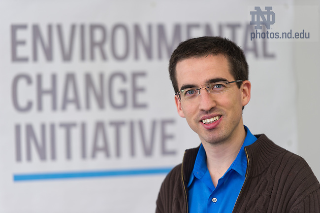 Feb. 19, 2013; Bruno Sanchez, Environmental Change Initiative..Photo by Matt Cashore/University of Notre Dame