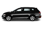 Car Driver side profile view of a 2018 Volkswagen Golf-Variant Comfortline 5 Door Wagon Side View