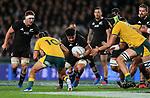Ardie Savea. Bledisloe Cup Rugby, All Blacks v Wallabies, Eden Park, Auckland, Saturday 17 August 2019. Photo: Simon Watts/www.bwmedia.co.nz