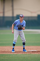 Jacob Wilson (5) during the WWBA World Championship at the Roger Dean Complex on October 12, 2019 in Jupiter, Florida.  Jacob Wilson attends Thousand Oaks High School in Thousand Oaks, CA and is committed to Grand Canyon.  (Mike Janes/Four Seam Images)