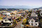 Photo of the Misakigaoka residential area of Maebaru City- otherwise known as Hydrogen Town - in Fukuoka, Japan.