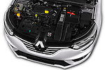 Car Stock 2016 Renault Megane Bose 5 Door Hatchback Engine  high angle detail view