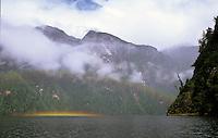 Water rainbow in Misty Fiord Alaska