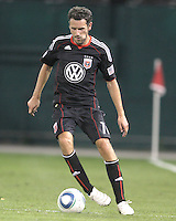 Carlos Verela #11 of D.C. United during an MLS match against the Houston Dynamo at RFK Stadium in Washington D.C. on September  25 2010.Houston won 3-1.