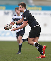 11 March 2013; Campbell skipper Marcus Collim in action during the Medallion Shield Final between Wallace High School and Campbell College at Ravenhill, Belfast, DICKSONDIGITAL