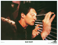Blue Velvet (1986) <br /> Lobby card with Kyle MacLachlan<br /> *Filmstill - Editorial Use Only*<br /> CAP/KFS<br /> Image supplied by Capital Pictures