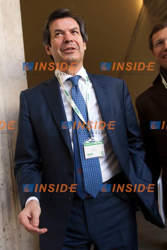 Giuseppe Messina<br /> Roma 31-10-2014 Palazzo della Cancelleria. 90&deg; Giornata Mondiale del Risparmio organizzata dall'Acri.<br /> World Saving Day<br /> Photo Samantha Zucchi Insidefoto