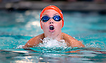 Willow Creek's Zachary Nelson competes in the 50 yard breast race during the 53rd annual Country Club Swimming Championships on Monday, Aug. 6, 2012, in Kearns, Utah. (© 2012 Douglas C. Pizac)