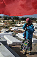 The cemetery where Mohamed BOUAZIZI the martyr of Tunisia leave. Le cimetiere ou Mohamed BOUAZIZI le martyr tunisien est enterré. .©Benoit Schaeffer pour le SIEPGEL /Fedephoto .EMBARGO SUR L'ALLEMAGNE _ NO SALE TO GERMANY.