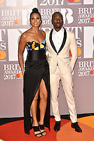 Alesha Dixon, Azuka Ononye<br /> The Brit Awards at the o2 Arena, Greenwich, London, England on February 22, 2017.<br /> CAP/PL<br /> &copy;Phil Loftus/Capital Pictures /MediaPunch ***NORTH AND SOUTH AMERICAS ONLY***