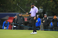 Andrew Johnston (ENG) on the 12th green during Round 1of the Sky Sports British Masters at Walton Heath Golf Club in Tadworth, Surrey, England on Thursday 11th Oct 2018.<br /> Picture:  Thos Caffrey | Golffile<br /> <br /> All photo usage must carry mandatory copyright credit (© Golffile | Thos Caffrey)