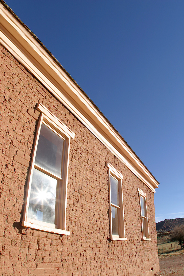 Abandoned church windows (circ 1886), Grafton (ghost town), Rockville, Washington County, UT