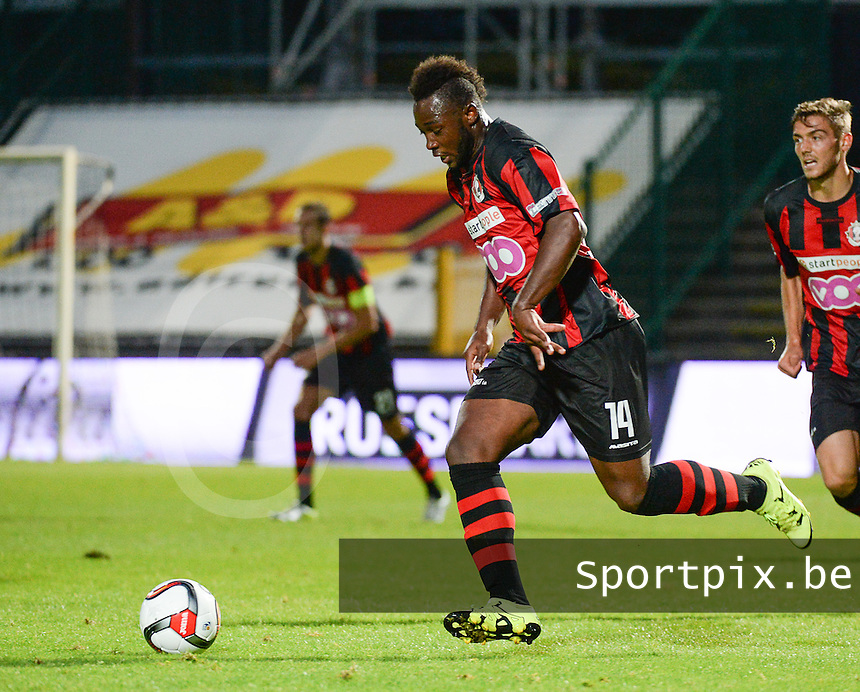20150807 - ROESELARE, BELGIUM: Seraing's Nianankoro Doumbia pictured during the Proximus League match between KSV Roeselare and RFC Seraing , in Roeselare , Friday 7 August 2015, on the 1st day of the Belgian second division soccer championship. PHOTO DAVID CATRY