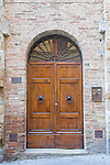 Europe; Italy; Tuscany; San Gimignano; Door of Midieval House