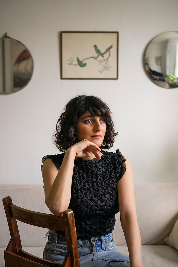 """Aisha Zia, Playwright, photgraphed at her home in East London. Her play """"No Guts, No Heart, No Glory """" has been a huge hit"""
