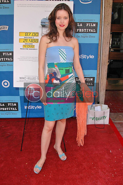 Summer Glau<br />at the Los Angeles Film Festival Screening of &quot;Who Killed The Electric Car&quot;. Landmark Regent Theater, Los Angeles, CA. 06-24-06<br />Dave Edwards/DailyCeleb.com 818-249-4998